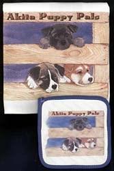 Akita Dish Towel & Potholder