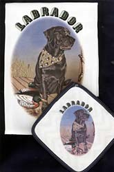 Black Lab Dish Towel & Potholder