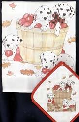 Dalmatian Dish Towel & Potholder