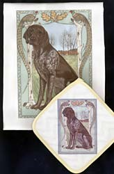 German Shorthaired Pointer Dish Towel & Potholder