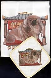 Pekingese Dish Towel & Potholder