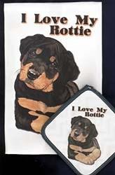 Rottweiler Dish Towel & Potholder