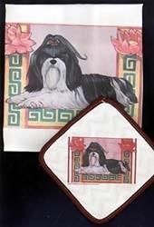 Shih Tzu Dish Towel & Potholder