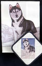 Siberian Husky Dish Towel & Potholder