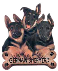 German Shepherd T-Shirt - Trio of Three Puppies