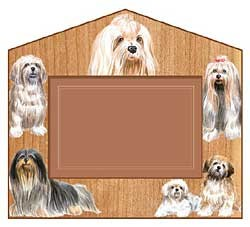 Lhasa Apso Decorative Picture Frame