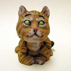 Tabby Cat Bobble Head