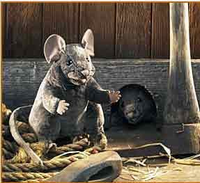 Mouse Puppet Gray 8""