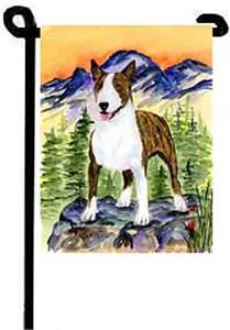 Bull Terrier Garden Flag