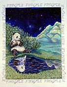 Panda Bear Garden Flag