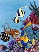 Fish Garden Flag
