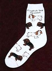 English Toy Spaniel Socks