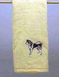 Alaskan Malamute Hand Towel