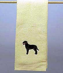 Black Lab Hand Towel