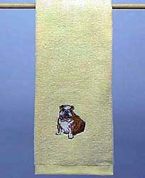 Bulldog Hand Towel
