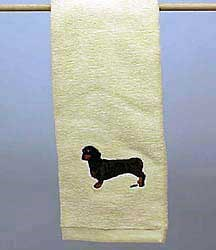 Black Dachshund Hand Towel