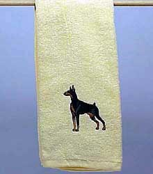 Doberman Pinscher Hand Towel