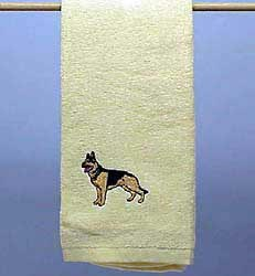 German Shepherd Hand Towel