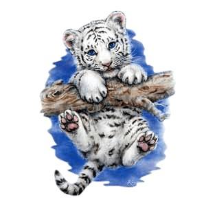White Tiger T-Shirt - Cub