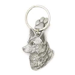 Australian Cattle Dog Keychain Pewter