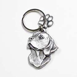Beagle Keychain Pewter
