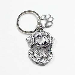 Bernese Mountain Dog Keychain Pewter