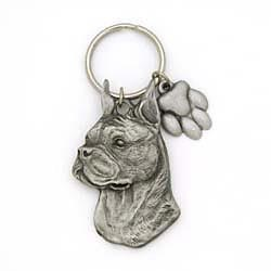 Boxer Keychain Pewter