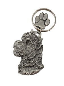 Cairn Terrier Keychain Pewter