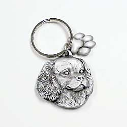 Cavalier King Charles Spaniel Keychain Pewter