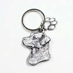 Chesapeake Bay Retriever Keychain Pewter