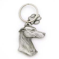 Greyhound Keychain Pewter