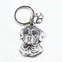 Mastiff Keychain Pewter