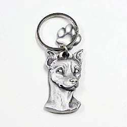 Miniature Pinscher Keychain Pewter