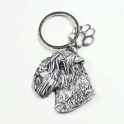 Wheaten Terrier Keychain Pewter