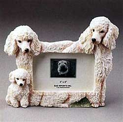 White Poodle Picture Frame