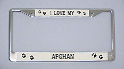 Afghan License Plate Frame