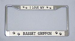 Basset Griffon License Plate Frame