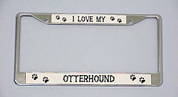 Otterhound License Plate Frame - Chrome
