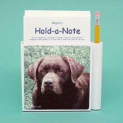 Chocolate Lab Hold-a-Note