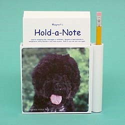 Portuguese Water Dog Hold-a-Note