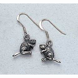 Beaver Earrings Sterling Silver