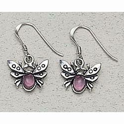 Bee Earrings Sterling Silver