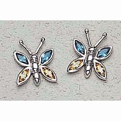 Butterfly Earrings Sterling Silver