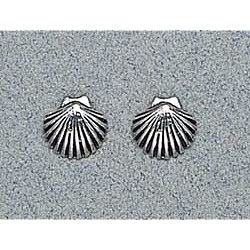 Shell Earrings Sterling Silver Stud
