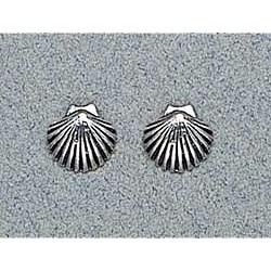 Shell Earrings Sterling Silver Stud