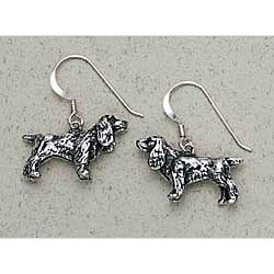 Cocker Spaniel Earrings Sterling Silver