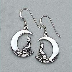 Coyote Earrings Sterling Silver