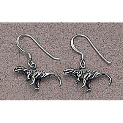 Dinosaur Earrings Sterling Silver