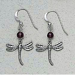 Dragonfly Earrings Sterling Silver
