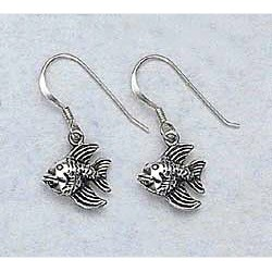 Goldfish Earrings Sterling Silver